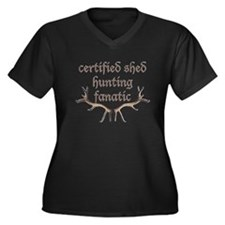 certified shed hunting Women's Plus Size V-Neck Da