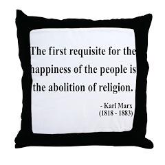 Karl Marx 3 Throw Pillow