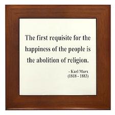 Karl Marx 3 Framed Tile