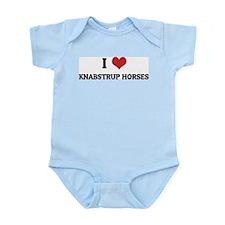 I Love Knabstrup Horses Infant Creeper