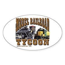 trains -Oval Sticker Model RR Tycoon
