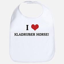 I Love Kladruber Horses Bib