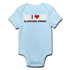 I Love Kladruber Horses Infant Creeper