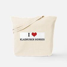 I Love Kladruber Horses Tote Bag