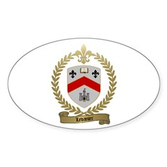 LEVANIER Family Crest Oval Decal
