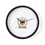 LEVANIER Family Crest Wall Clock