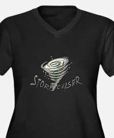 Storm Chaser 2 Women's Plus Size V-Neck Dark T-Shi