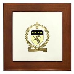 LEVRON Family Crest Framed Tile