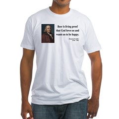 Benjamin Franklin 8 Fitted T-Shirt