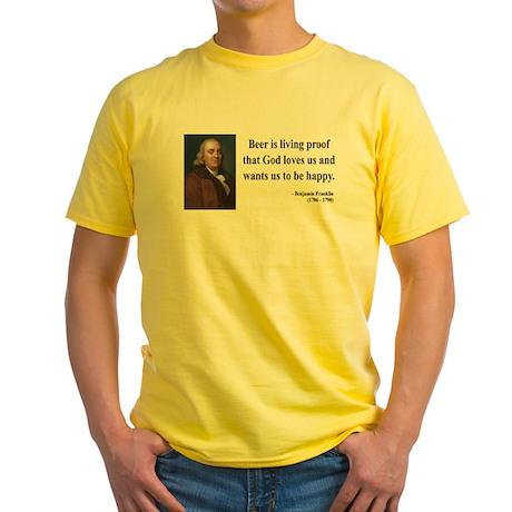 Benjamin Franklin 8 Yellow T-Shirt