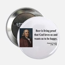 "Benjamin Franklin 8 2.25"" Button"