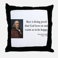 Benjamin Franklin 8 Throw Pillow