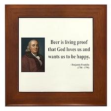 Benjamin Franklin 8 Framed Tile