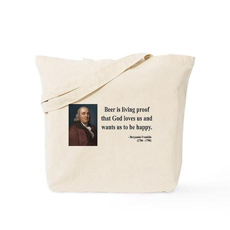 Benjamin Franklin 8 Tote Bag