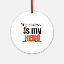 KidneyCancerHero Husband Ornament (Round)