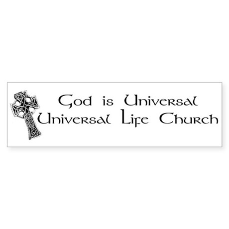 Celtic God is Universal Bumper Sticker