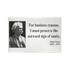 Mark Twain 26 Rectangle Magnet (10 pack)