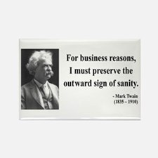 Mark Twain 26 Rectangle Magnet