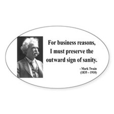 Mark Twain 26 Oval Decal