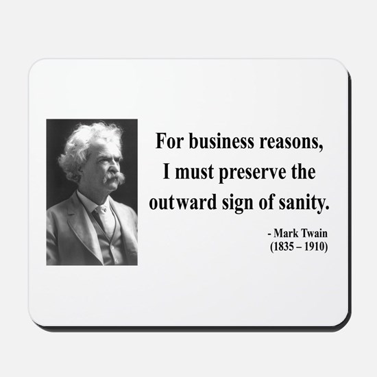 Mark Twain 26 Mousepad