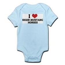 I Love Kiger Mustang Horses Infant Creeper