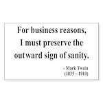 Mark Twain 26 Rectangle Sticker