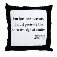 Mark Twain 26 Throw Pillow