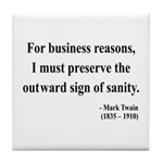Mark Twain 26 Tile Coaster