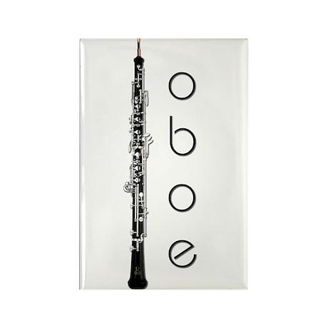 Oboe Oboeist Rectangle Magnet