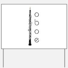 Oboe Oboeist Yard Sign
