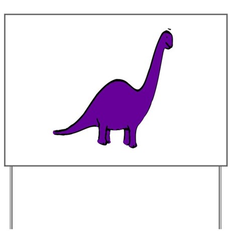 Cute Purple Dinosaur Yard Sign