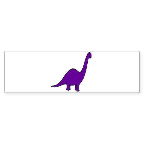 Cute Purple Dinosaur Bumper Sticker