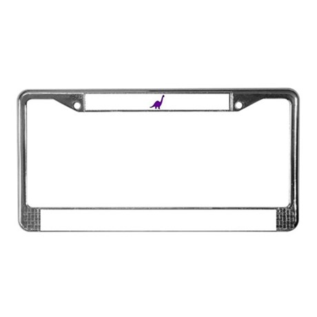 Cute Purple Dinosaur License Plate Frame