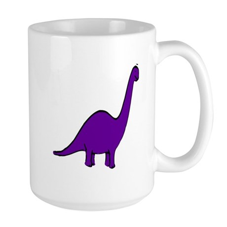 Cute Purple Dinosaur Large Mug