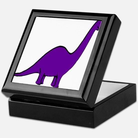 Cute Purple Dinosaur Keepsake Box