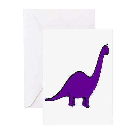 Cute Purple Dinosaur Greeting Cards (Pk of 10)