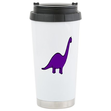 Cute Purple Dinosaur Stainless Steel Travel Mug