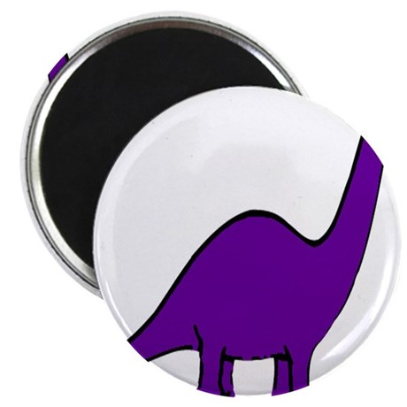 "Cute Purple Dinosaur 2.25"" Magnet (100 pack)"