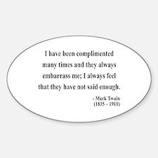 Mark Twain 12 Oval Decal