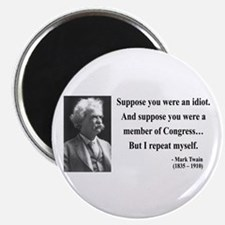 "Mark Twain 15 2.25"" Magnet (10 pack)"