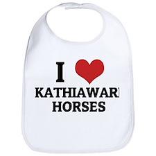 I Love Kathiawari Horses Bib