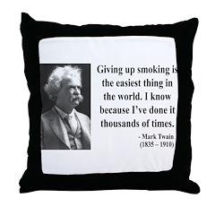 Mark Twain 28 Throw Pillow