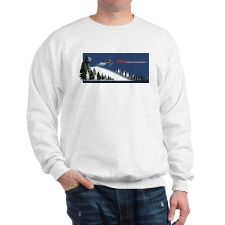 Bring Your Own Balls Snowmobiler Sweatshirt