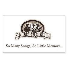 Bluegrass Lyrics Sticker - So many songs...