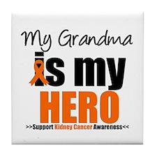 KidneyCancerHero Grandma Tile Coaster