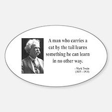 Mark Twain 34 Oval Decal