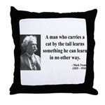Mark Twain 34 Throw Pillow