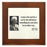 Mark Twain 34 Framed Tile