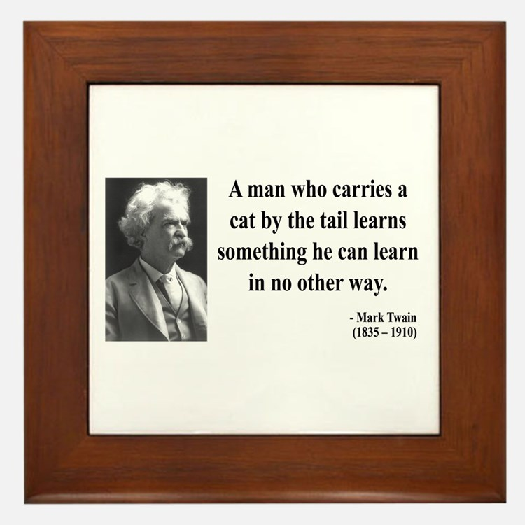 Mark Twain 34 Framed Tile