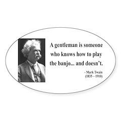 Mark Twain 36 Oval Decal